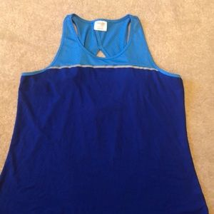 Workout tank with back detail
